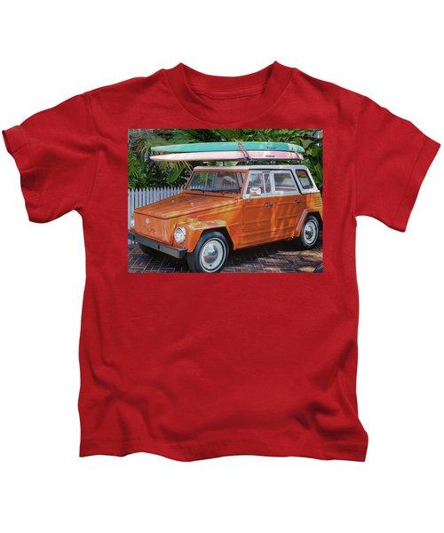 Volkswagen And Surfboards Kids T-Shirt