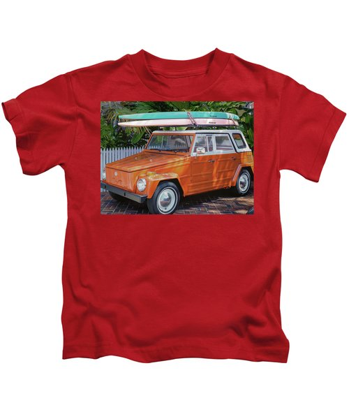 Volkswagen And Surfboards Kids T-Shirt