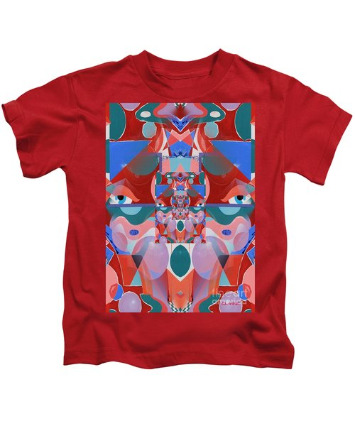 Abstract Vortex In Red Kids T-Shirt