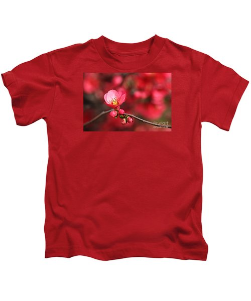 Warmth Of Flowering Quince Kids T-Shirt