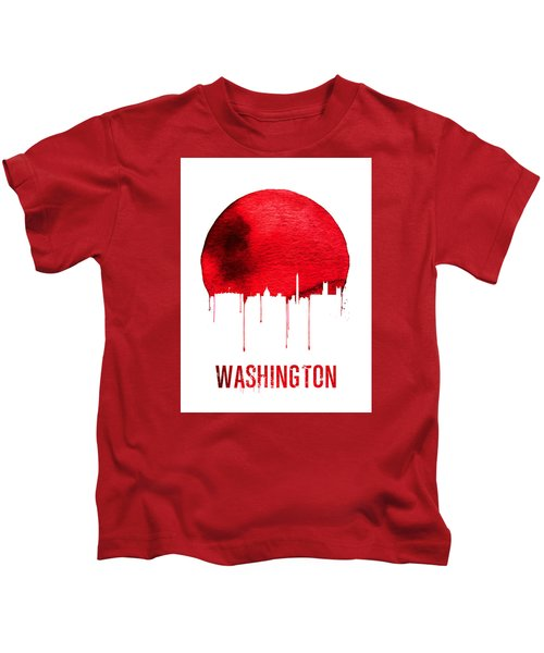 Washington Skyline Red Kids T-Shirt