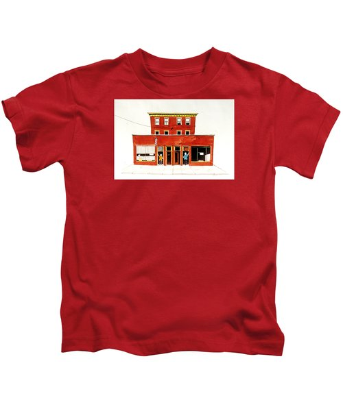 Washington Street Barbers Kids T-Shirt