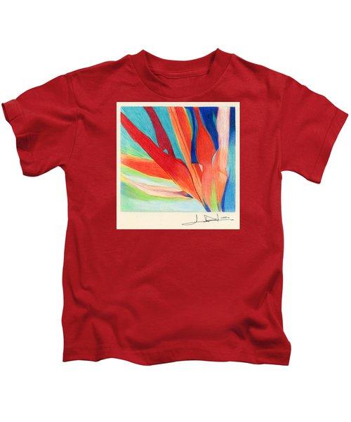 Water Grass Blue Kids T-Shirt
