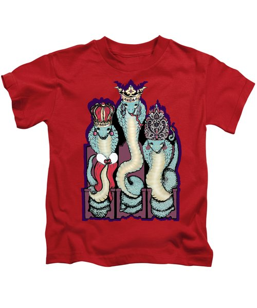 We Three Crowned Cobra Queens Kids T-Shirt