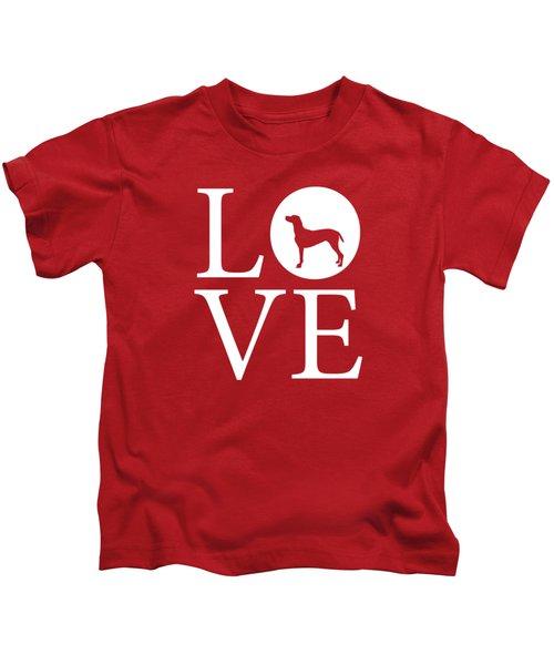 Weimaraner Love Red Kids T-Shirt