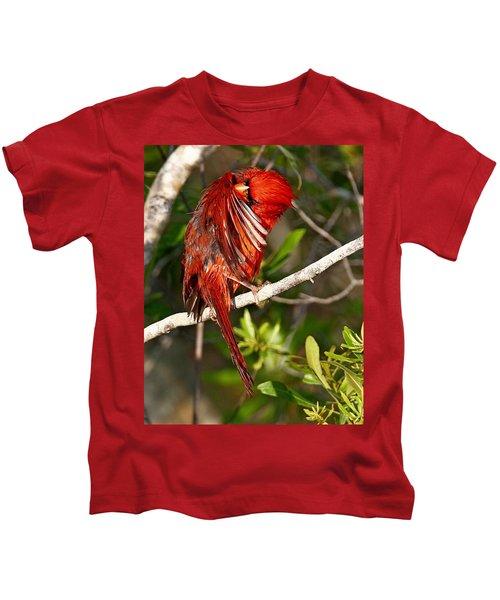 Wet Cardinal Kids T-Shirt