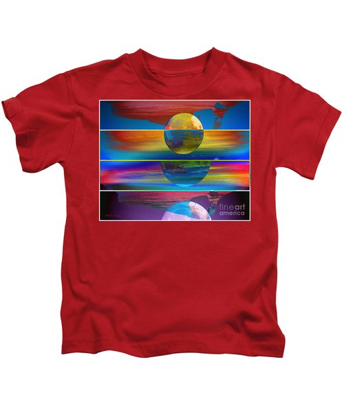 Where The Land Ends Kids T-Shirt