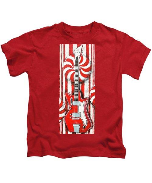 White Stripes Guitar Kids T-Shirt