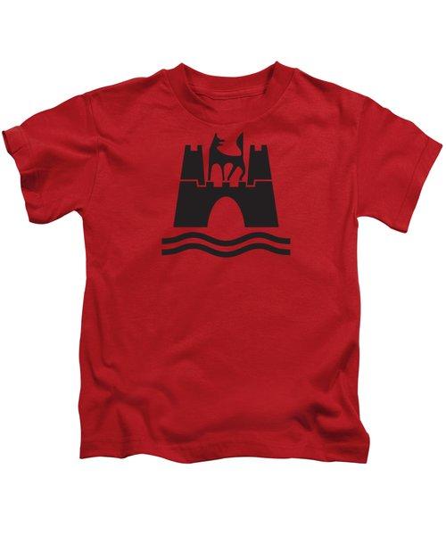 Wolfburg Logo Kids T-Shirt by Ed Jackson