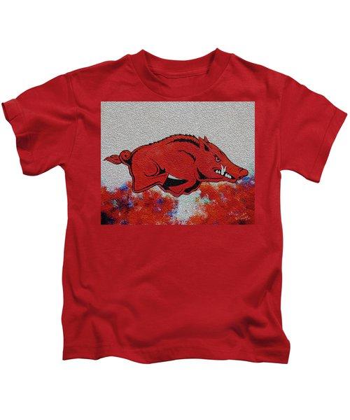 Woo Pig Sooie 2 Kids T-Shirt by Belinda Nagy