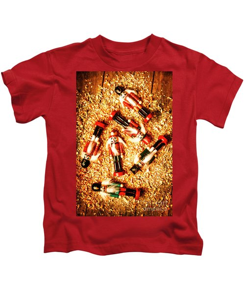Wooden Toy Soldiers Kids T-Shirt