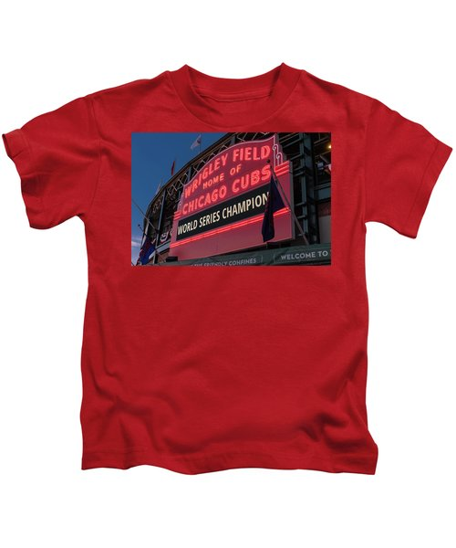 Wrigley Field World Series Marquee Kids T-Shirt