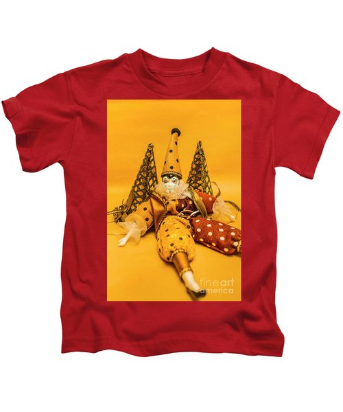 Yellow Carnival Clown Doll Kids T-Shirt