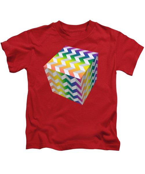 Zig Zag Cube Kids T-Shirt