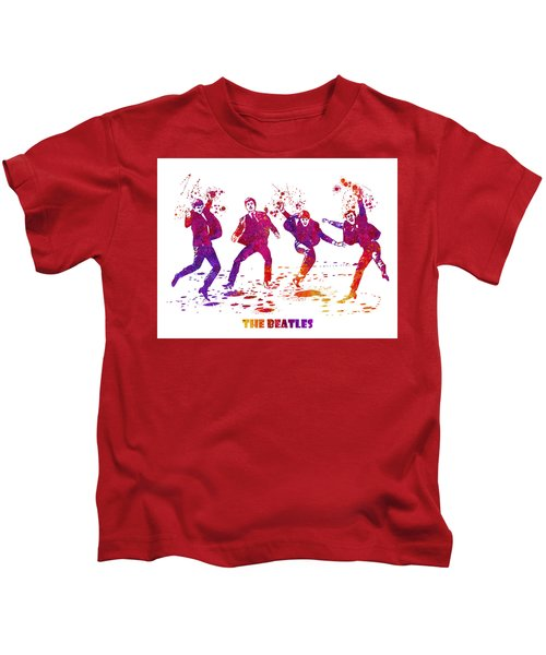 The Beatles Watercolor 01 Kids T-Shirt