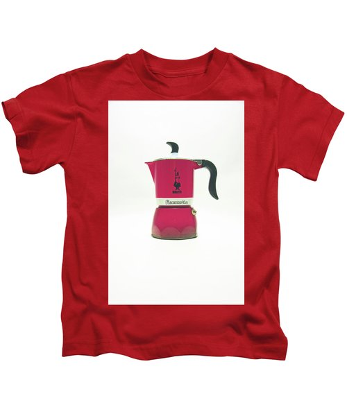 10-05-19 Studio. Red Cafetiere. Kids T-Shirt