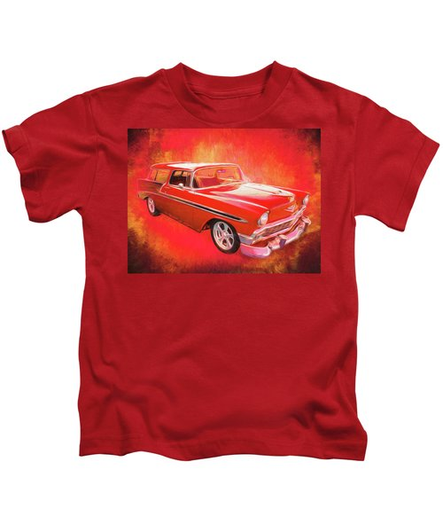 1956 Chevy Nomad Kids T-Shirt