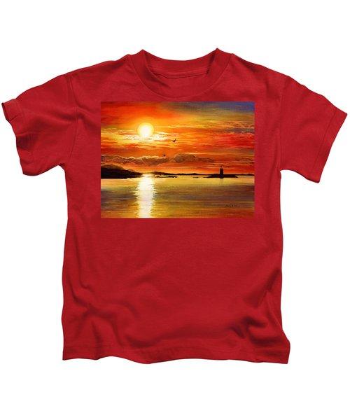 Sunset Lake Kids T-Shirt