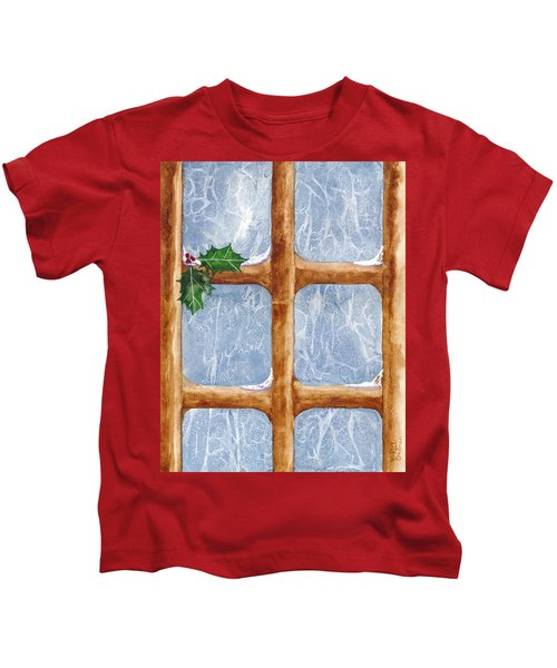 A Visit From Jack Frost Kids T-Shirt