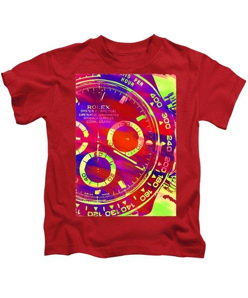 Abstract Rolex Digital Paint 10 Kids T-Shirt