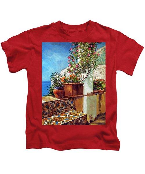 Amalfi Coast Impressions Kids T-Shirt