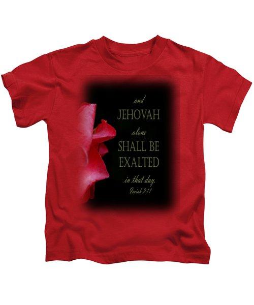 Pink Rose Takes A Bow - Verse Kids T-Shirt