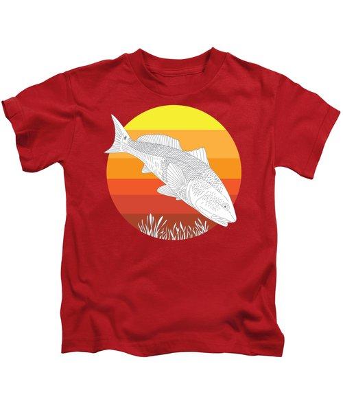 Sunset Redfish Kids T-Shirt
