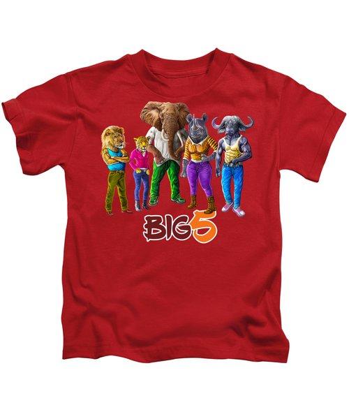 The Cool Big Five  Kids T-Shirt