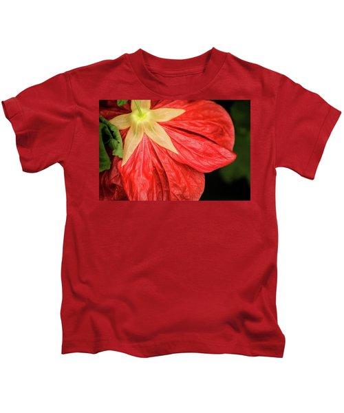 Back Of Red Flower Kids T-Shirt