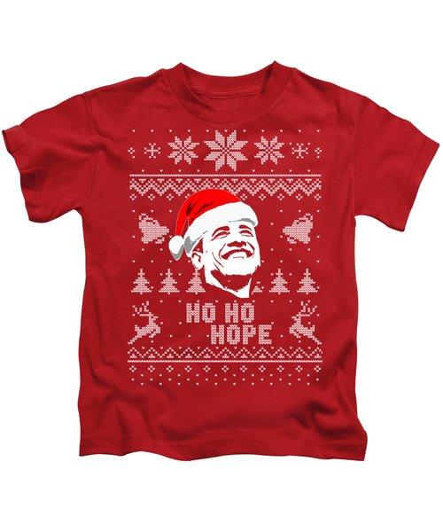 Barack Obama Ho Ho Hope Christmas Kids T-Shirt