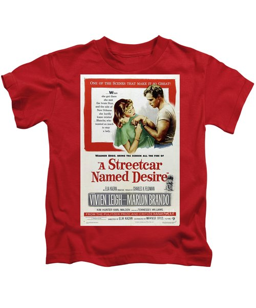 Classic Movie Poster - A Streetcar Named Desire Kids T-Shirt