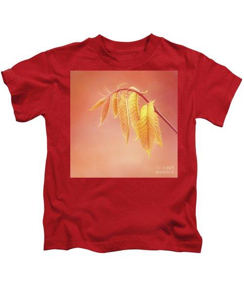 Delightful Baby Chestnut Leaves Kids T-Shirt
