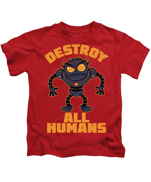 Destroy All Humans Angry Robot Kids T-Shirt