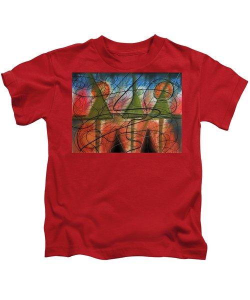 Disturbance At Lake Kids T-Shirt