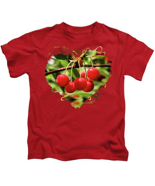 Door County Cherry Hanging Cherries Kids T-Shirt