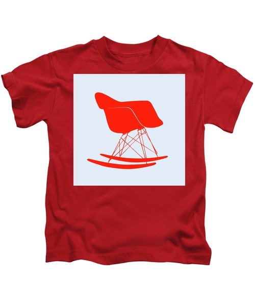 Eames Rocking Chair Red Kids T-Shirt