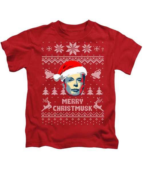Elon Musk Merry Christmusk Kids T-Shirt