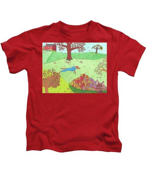 Falling Leaves Kids T-Shirt