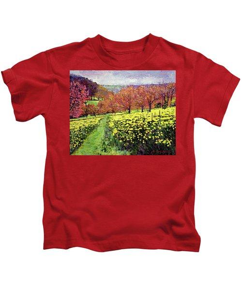 Fields Of Golden Daffodils Kids T-Shirt