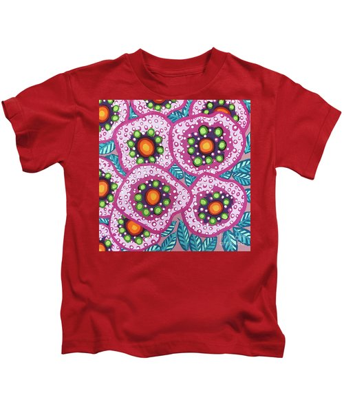 Floral Whimsy 10 Kids T-Shirt