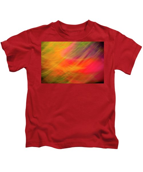 Flowers In Abstract Kids T-Shirt