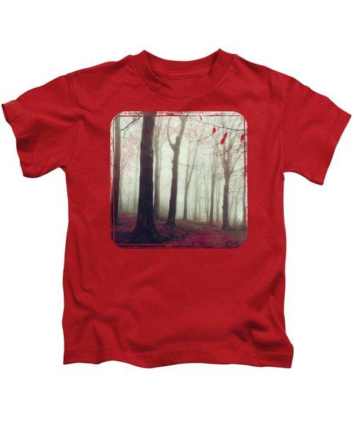 Forest In December Mist Kids T-Shirt