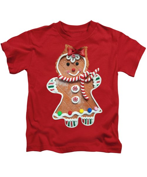 Gingerbread Cookie Girl Kids T-Shirt