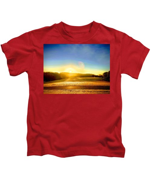 Kids T-Shirt featuring the photograph Golden Dawn by Chris Montcalmo