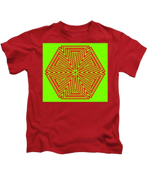 Green And Red Fusion  Kids T-Shirt