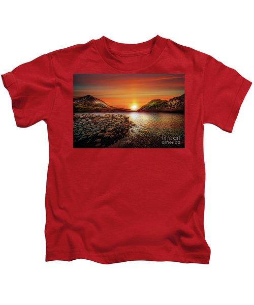 Idwal Lake Sunset Kids T-Shirt