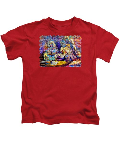 Impressionist Watercolor Drawing - Teacher Of Quran And Religion Kids T-Shirt