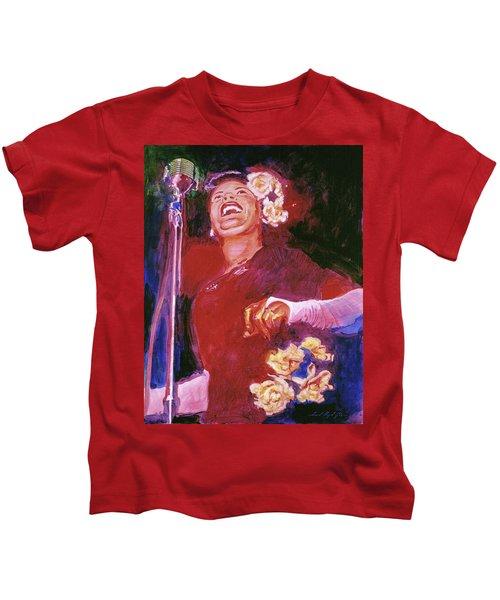 Lady Day - Billie Holliday Kids T-Shirt