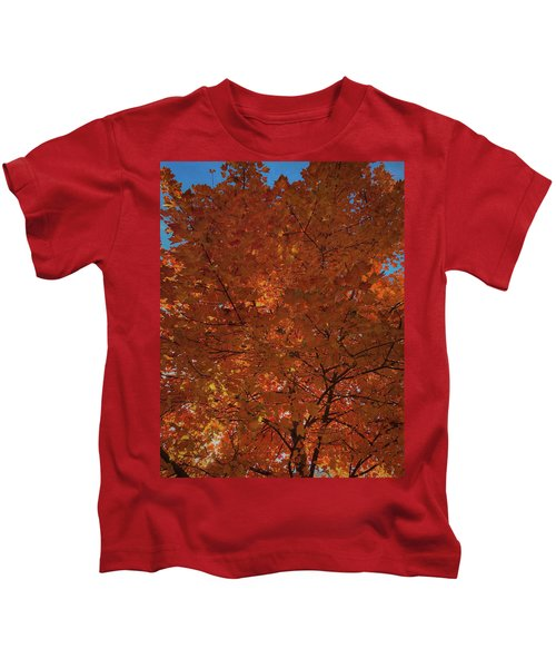 Leaves Of Fire Kids T-Shirt