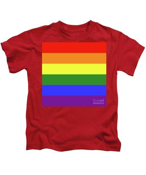 Lgbt 6 Color Rainbow Flag Kids T-Shirt